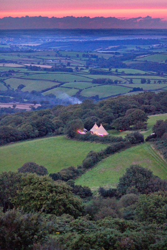 Burnicombe Farm and the Teign Valley