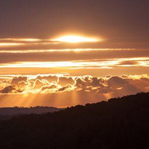 Dartmoor sunset god rays